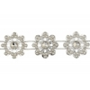 Plastic Trim Silver Diamond Cut 21mm Lotus Flower